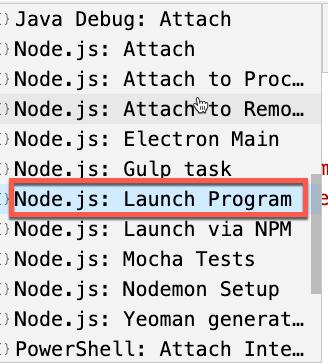 Node.js: Launch Program