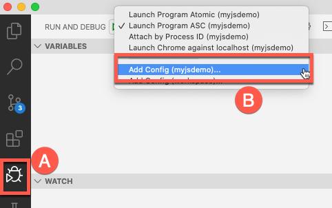 Select Debug and Add Config